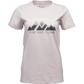 Black Diamond Rise And Climb - T-shirt manches courtes Femme - blanc